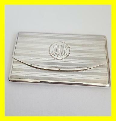 Mappin & Webb Silver Gilt Sprung Card Case,birmingham 1925,excellent Condition