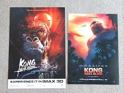 2 Kong Skull Island limited edition IMAX & Real D 3D mini posters