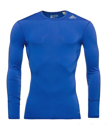 adidas Techfit Base LS Longsleeves Funktions-Shirt Training Kompression blau