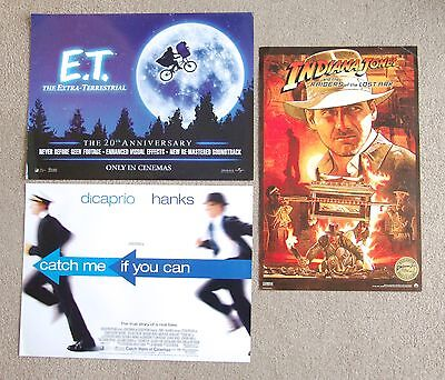 E.T. The Extra Terrestrial & Indiana Jones Raiders of the Lost Ark mini posters