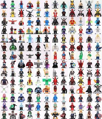 Marvel Superhero all character Collection building Toys Minifigures fit wit Lego