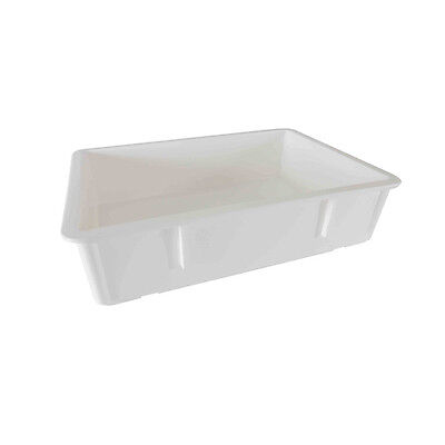 Thunder Group PLDB182606PP, 18x26x6-Inch Pizza Dough Box, Polypropylene, White