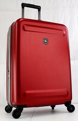 """Victorinox Etherius 23"""" Large Carry On Hardside Spinner Suitcase Red"""