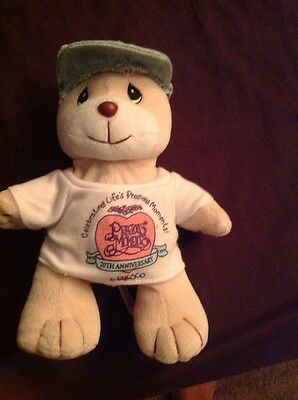 "1998 Enesco Precious Moments 20TH Anniversary 7"" Tender Tails Plush Bear"