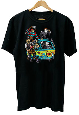 Mystery Machine Horror Movie Characters Men's Comedy T-Shirt