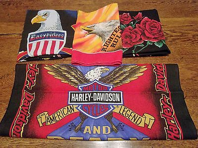4  Official Harley Davidson & Easyrider Motocycle Bandanas Handkerchief  Lot