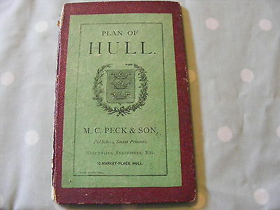 Antique Map / Plan Of Hull M . C . Peck And Son 1880
