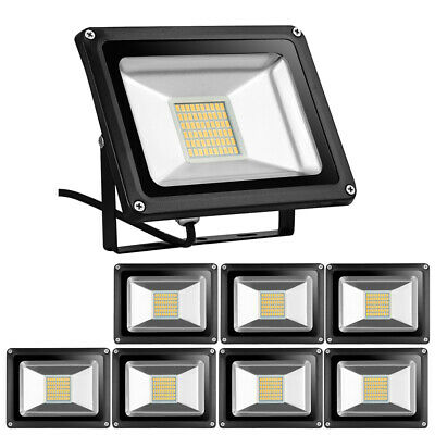5X 30W LED Flood Light Warm White Outdoor Yard Spotlight Lamp Floodlight DC12V
