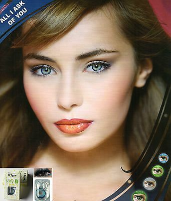 Lentille de couleur NATY B **soft contact lenses 1 year *5 Colors *French Seller