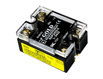 AC UL Solid State Relay, 90-280VAC-in, 24-280VAC-out, 25Amp, 2-LEDs (SAP2425A-L)
