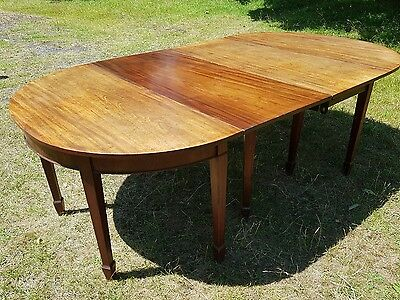 Antique Georgian Large Mahogany D End Dining Table