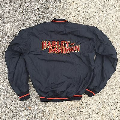 VTG 80s Harley Davidson Motorcycle Biker Jacket Made In USA Union Made