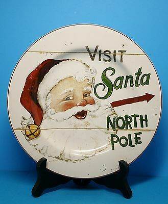 Santa Claus Christmas Plate. Santa Claus Decor. Christmas Collectible Plate