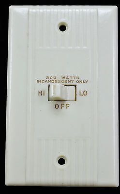 Vtg Bakelite Light Switch Plate Cover  and Toggle unit Ribbed lined