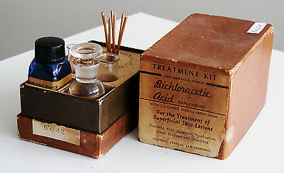 Antique/VTG Drug Store Pharmacy Apothecary Medicine SKIN LESIONS KIT RX634