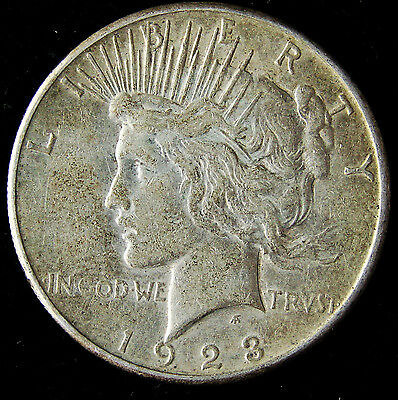EXCELLENT 1923-S United States Peace Silver Dollar 90% Pure $1 Coin E41