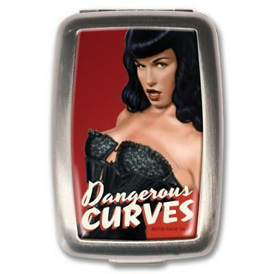 NEW Retro- A- Gogo Bettie Page Dangerous Curves Pill Box Pill Boxes