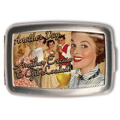 NEW Retro- A- Gogo Another Day, Another Excuse Pill Box Pill Boxes