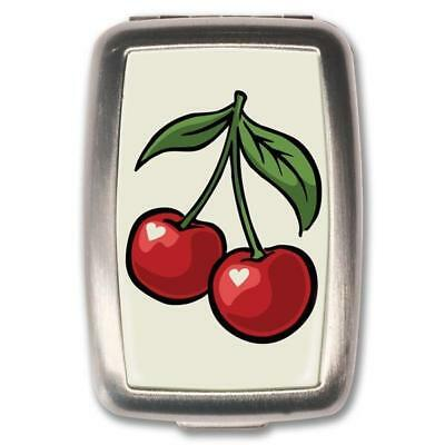 NEW Retro- A- Gogo Cherry White Pill Box Pill Boxes