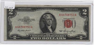 1953 $2.00 United States Note   FR-1509    Back Plate #399  Circulated/VF  TF-N7