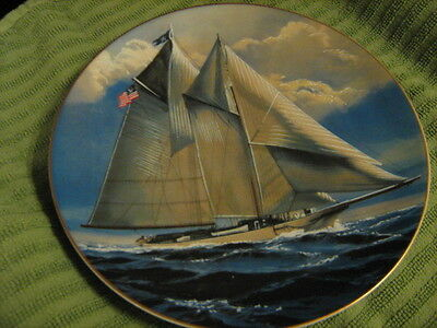 The America - Sailing Ship Plate - Rosenthal/Danbury Mint - Excellent