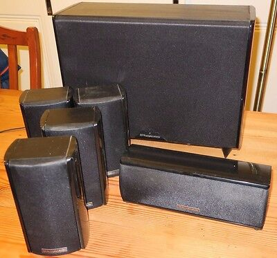 wharfedale surround sound 6 speaker system aud picclick au. Black Bedroom Furniture Sets. Home Design Ideas