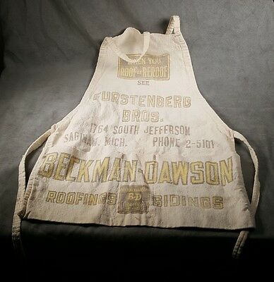 Vintage Hardware Store Advertising Apron Furstenberg Bros Saginaw Michigan - h1h