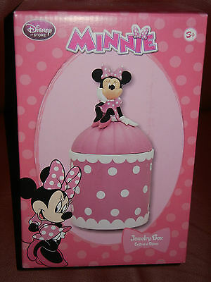 Disney Store Collectible Minnie Mouse Jewelry Box Figurine Nib!!!