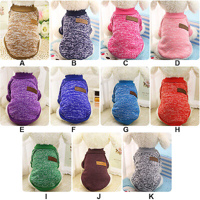Pet Dog Warm Winter Clothes Puppy Cat Knitted Sweater Jumper Coat Jacket Apparel