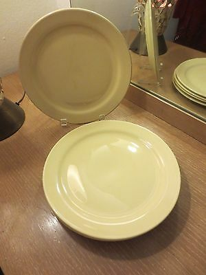 Set Of 5 Early California Vernon Kilns Vernonware Pastel Yellow Plates 9 1/2""