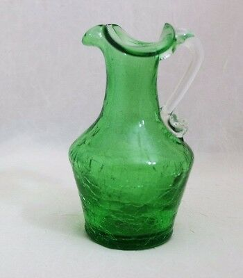 "Collectible Pilgrim Glass Crackled Glass Pitcher, 4.5""   7/13*1000"