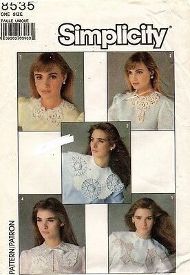 1980's VTG Simplicity Crocheted Collars Pattern 8535 UNCUT