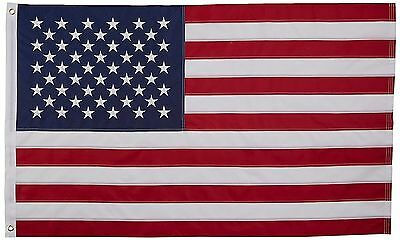 3' X 5' 3x5 USA American Flag Embroidered Stars Sewn in Stripes Nylon NEW USA