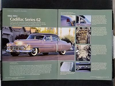1950-1953 Cadillac Series 62 - 6 Page Article - Free Shipping