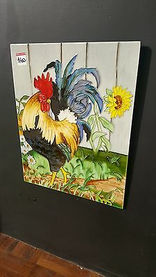 Rooster Ceramic Tile Wall Art