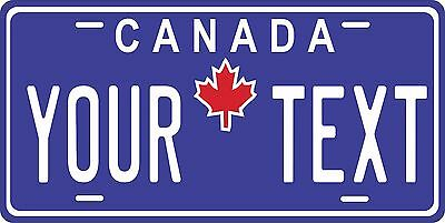 Canada Blue License Plate Personalized Custom Car Bike Motorcycle Moped Tag