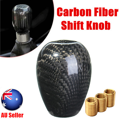 Universal Carbon Fiber Car 5 6 Speed Manual Gear Stick Lever Shift Shifter Knob