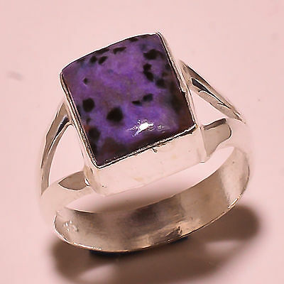 Charolite 925 Solid Sterling Silver Ring Size 8 Us