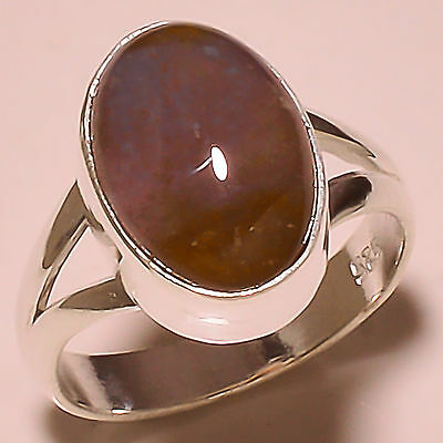 Honey Amber 925 Solid Sterling Silver Ring Size 8 Us