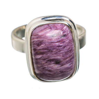 Charoite 925 Sterling Silver Ring Size 3.75 Ana Co Jewelry R818498