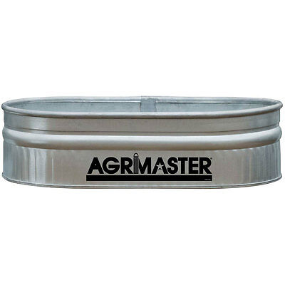 Stock Feed Tank 44-Gal Shallow Galvanized Round End Livestock Water Trough Pool