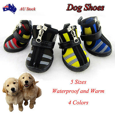 Breathable Reflectiv Waterproof Shoes Boots Socks Warm For  Pet Puppy Dog 4 pcs