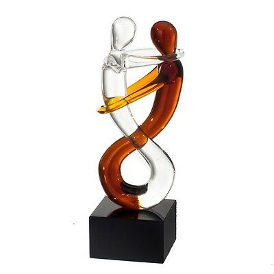 Tanz Glasskulptur James Art Glass im Murano Stil Glasfigur Glas Handmade