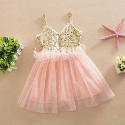 AU Toddler Baby Girl Princess Dress Kids Wedding Birthday Party Lace Tutu Dress