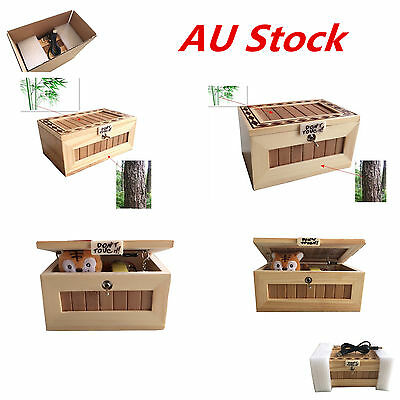 Wooden Useless Box Leave Me Alone Box Machine Sound Don't Touch Tiger Gift AU