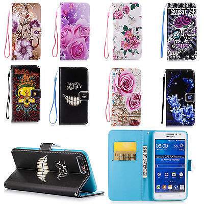Flip Leather Wallet Phone Accessories Stand Case Cover For Mobile Cell Phones