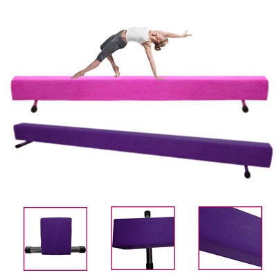 7FT Folding Floor Balance Beam Suede Kids Gymnastics Gym Training Hard Wearing