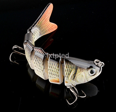 NEW Swimbait 6 Jointed Sections Fishing Lure Crankbait Bass Lures Bait Tackle~