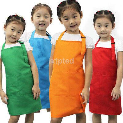 Cute Kids Children Kitchen Baking Painting Apron Baby Art Cooking Craft Bib ~