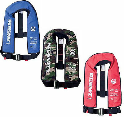 Masterline Fishing Watersnake Inflatable Manual Life Jackets 100 - Colour Choice